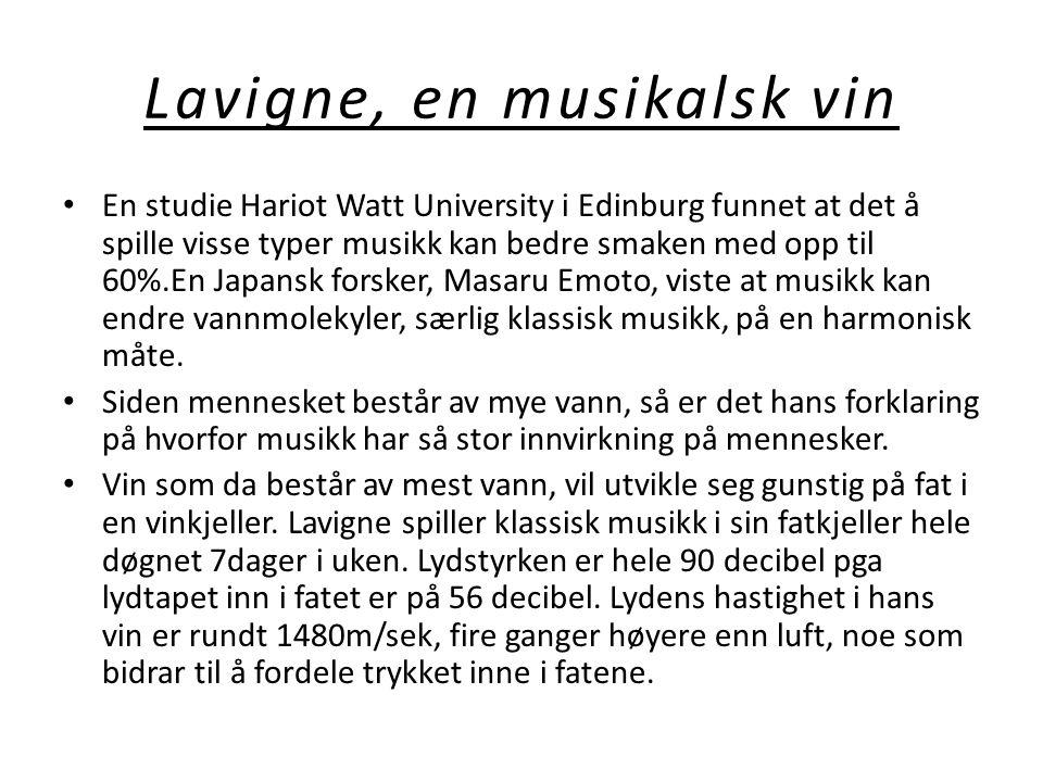 Lavigne, en musikalsk vin
