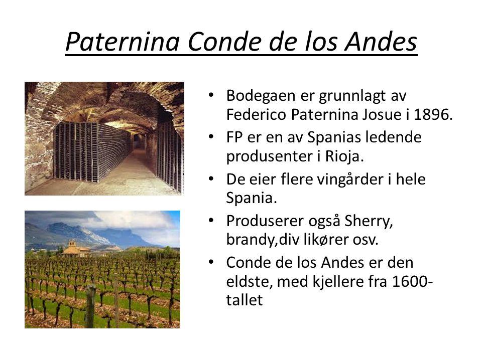 Paternina Conde de los Andes