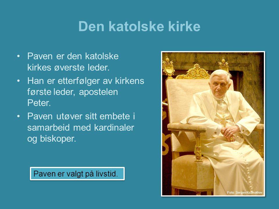Den katolske kirke Paven er den katolske kirkes øverste leder.