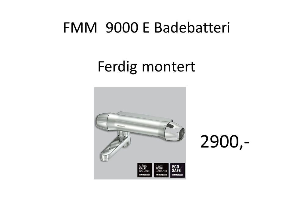 FMM 9000 E Badebatteri Ferdig montert