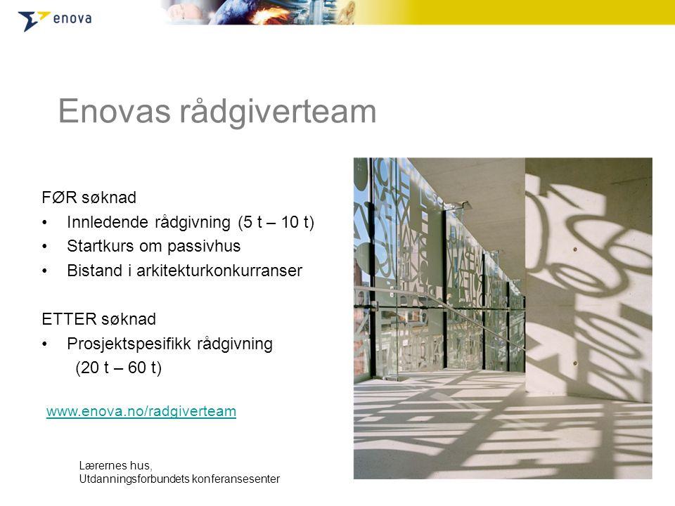 Enovas rådgiverteam FØR søknad Innledende rådgivning (5 t – 10 t)