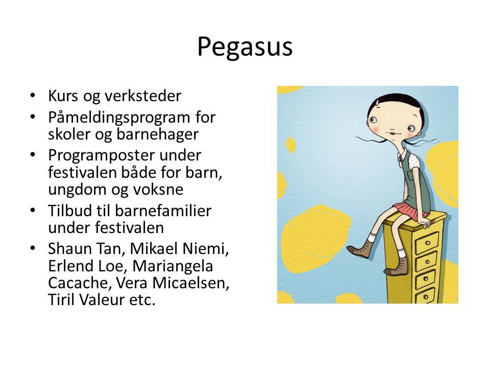 Pegasus Kurs og verksteder Påmeldingsprogram for skoler og barnehager