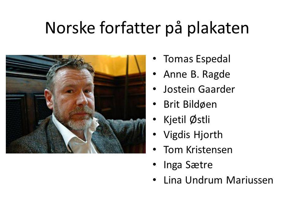 Norske forfatter på plakaten