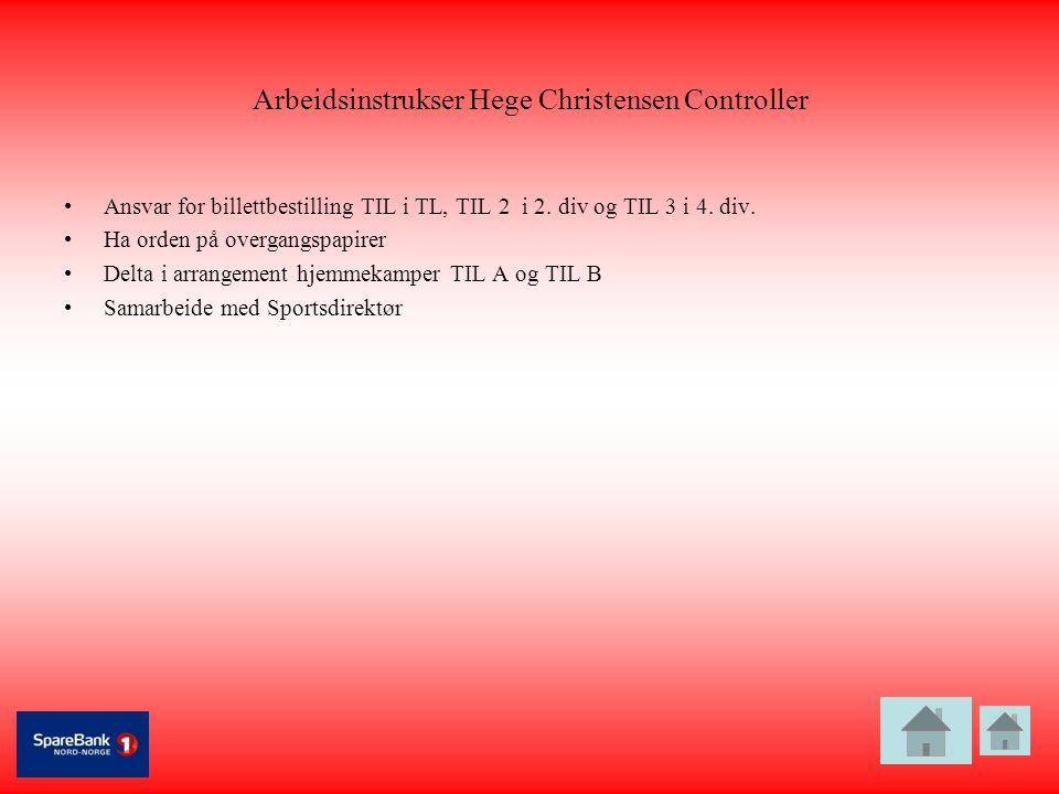 Arbeidsinstrukser Hege Christensen Controller