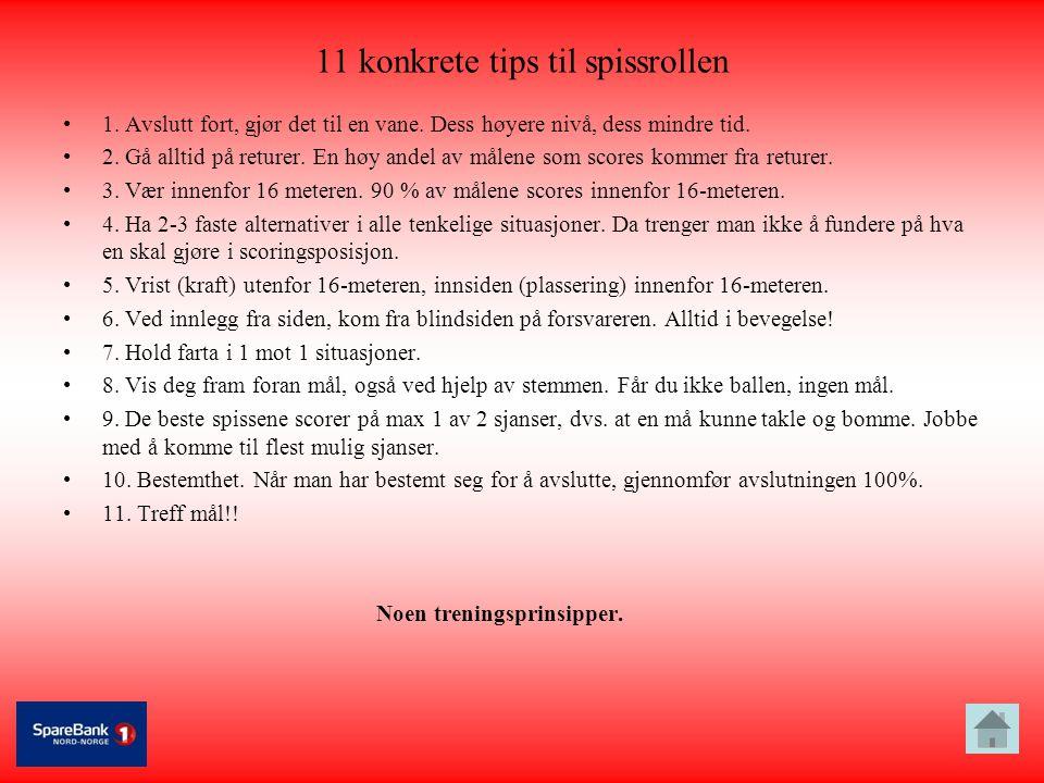 11 konkrete tips til spissrollen