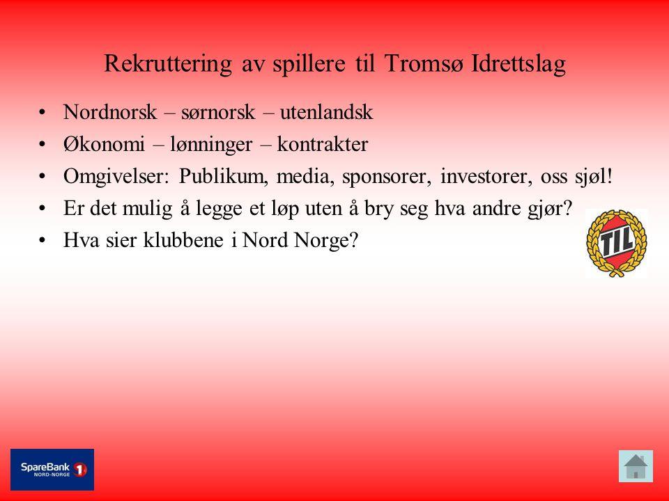 Rekruttering av spillere til Tromsø Idrettslag