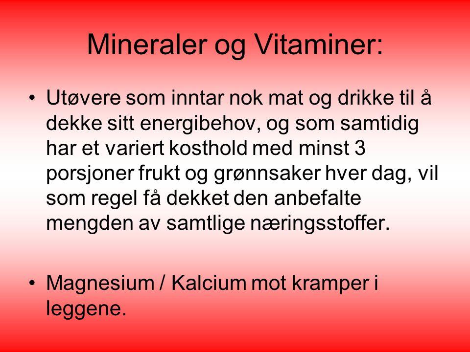 Mineraler og Vitaminer: