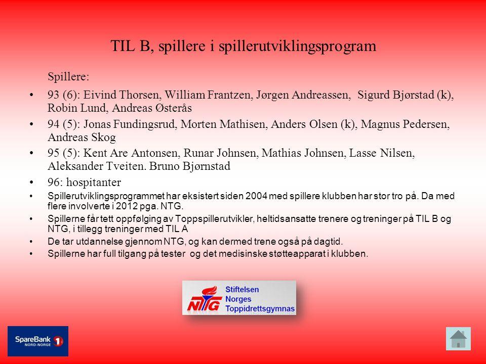 TIL B, spillere i spillerutviklingsprogram