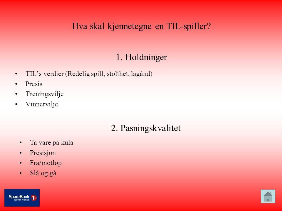 Hva skal kjennetegne en TIL-spiller