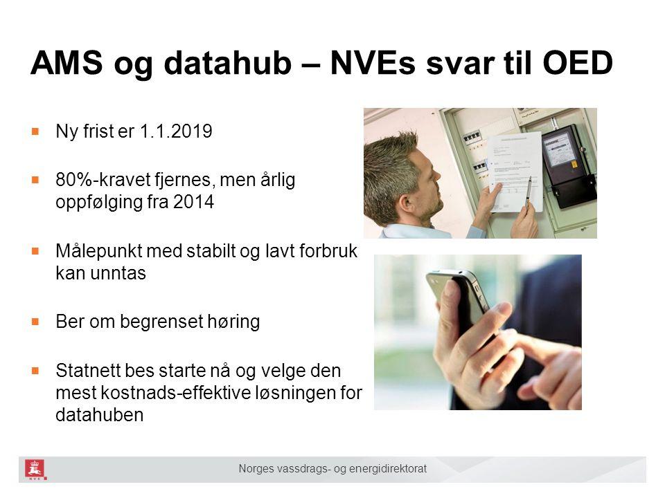 AMS og datahub – NVEs svar til OED