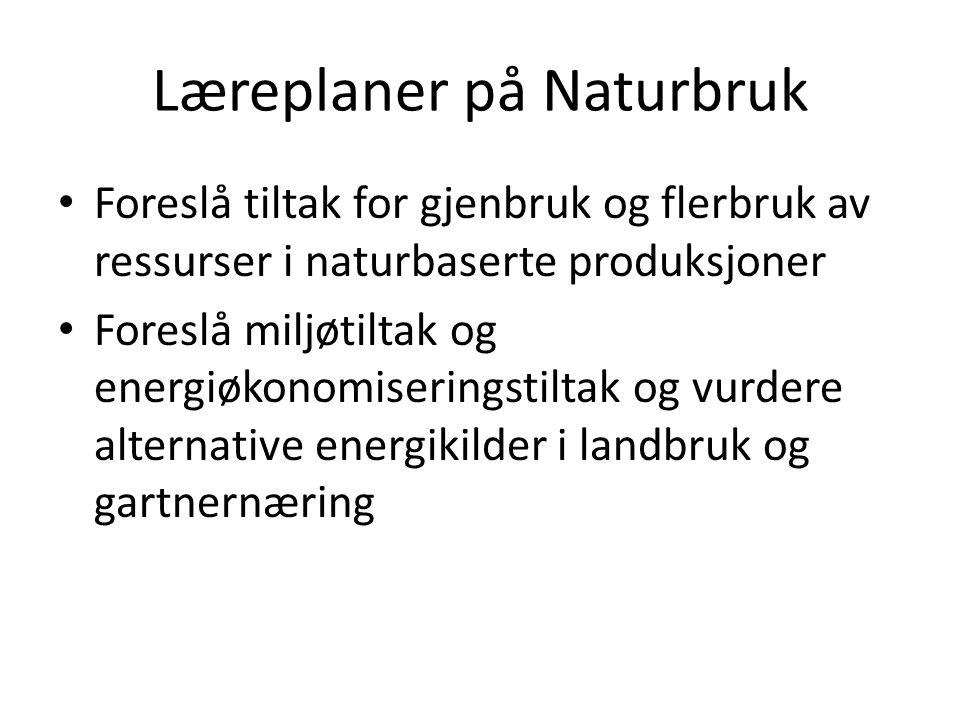 Læreplaner på Naturbruk