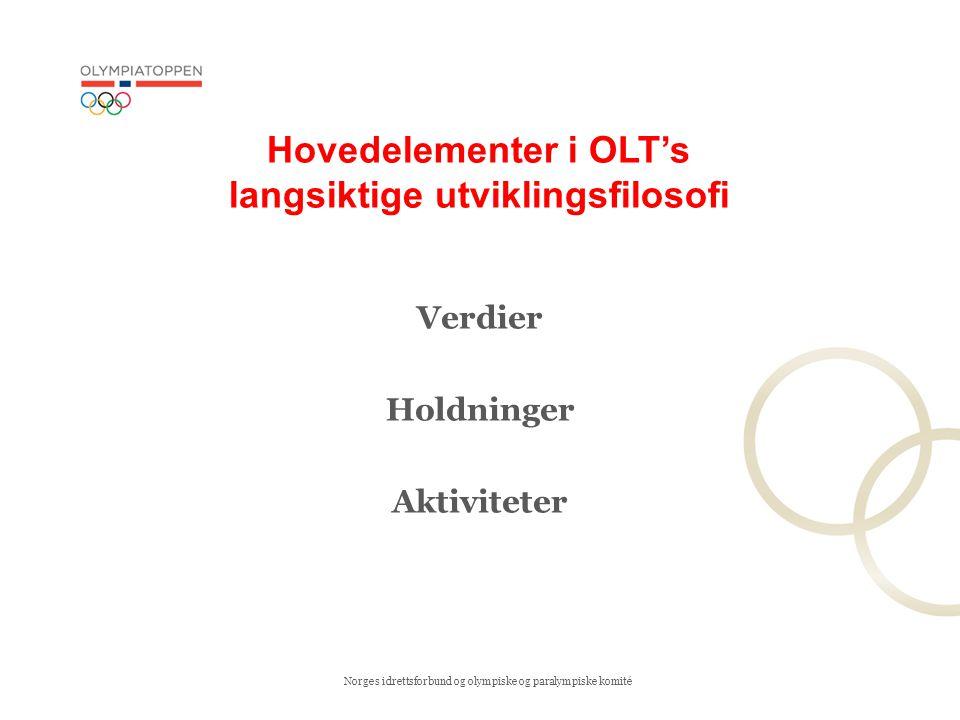 Hovedelementer i OLT's langsiktige utviklingsfilosofi