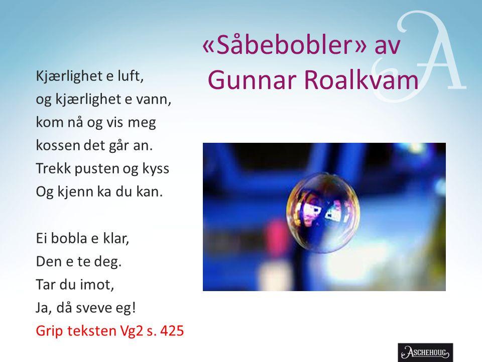 «Såbebobler» av Gunnar Roalkvam