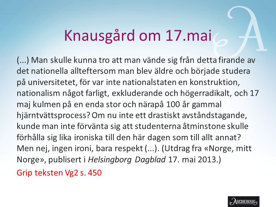 Knausgård om 17.mai