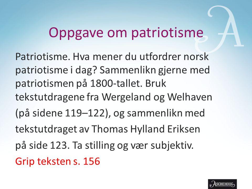 Oppgave om patriotisme
