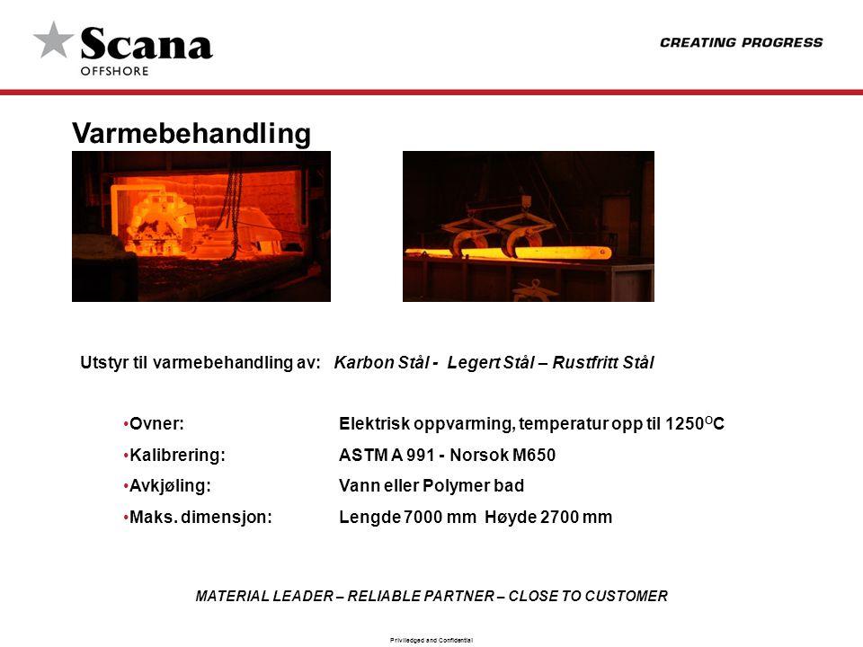 Varmebehandling Utstyr til varmebehandling av: Karbon Stål - Legert Stål – Rustfritt Stål.