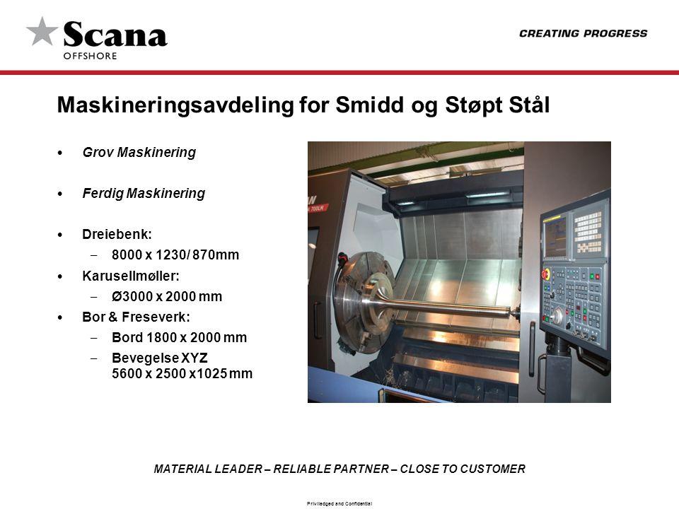 Maskineringsavdeling for Smidd og Støpt Stål