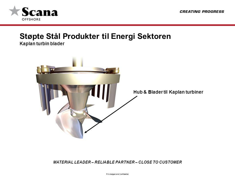 Støpte Stål Produkter til Energi Sektoren