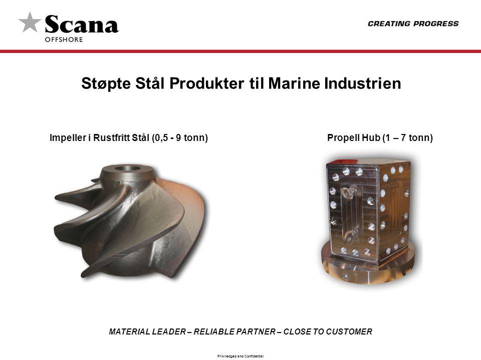 Støpte Stål Produkter til Marine Industrien Impeller i Rustfritt Stål (0,5 - 9 tonn) Propell Hub (1 – 7 tonn)