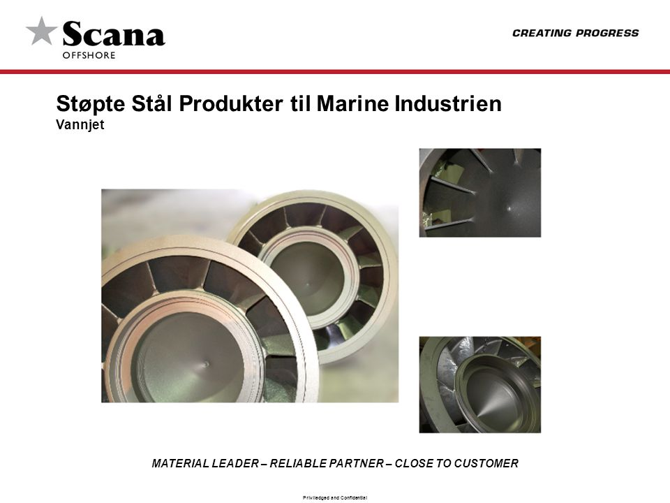 Støpte Stål Produkter til Marine Industrien
