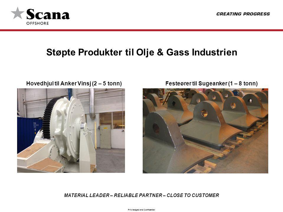 Støpte Produkter til Olje & Gass Industrien Hovedhjul til Anker Vinsj (2 – 5 tonn) Festeører til Sugeanker (1 – 8 tonn)