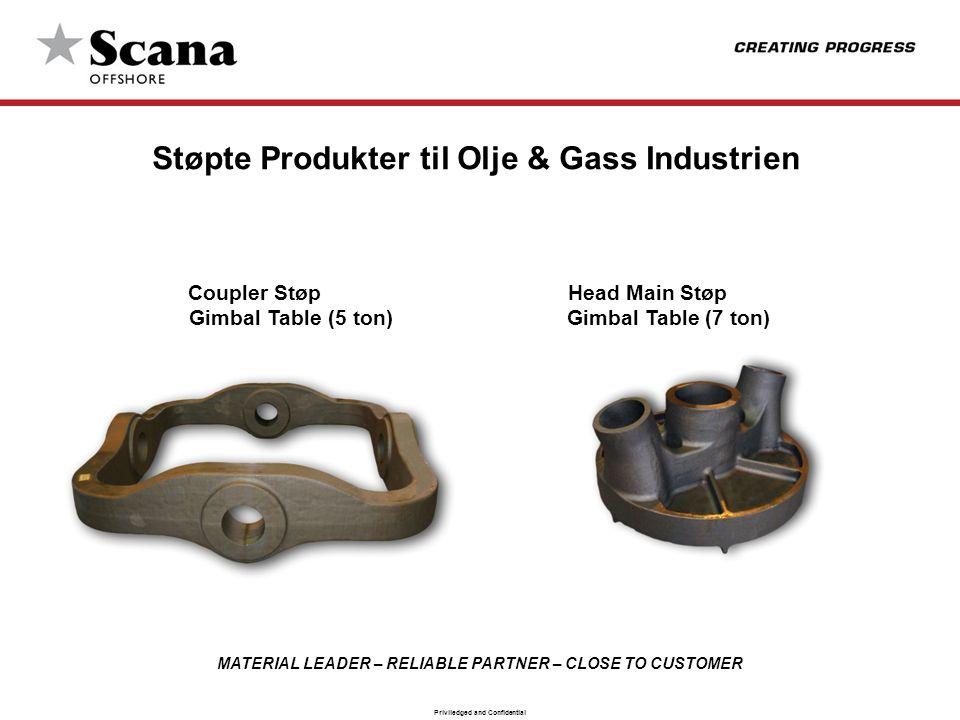 Støpte Produkter til Olje & Gass Industrien