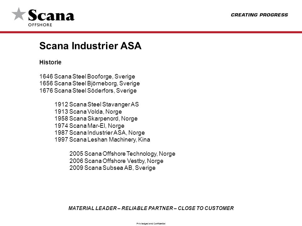 Scana Industrier ASA Historie