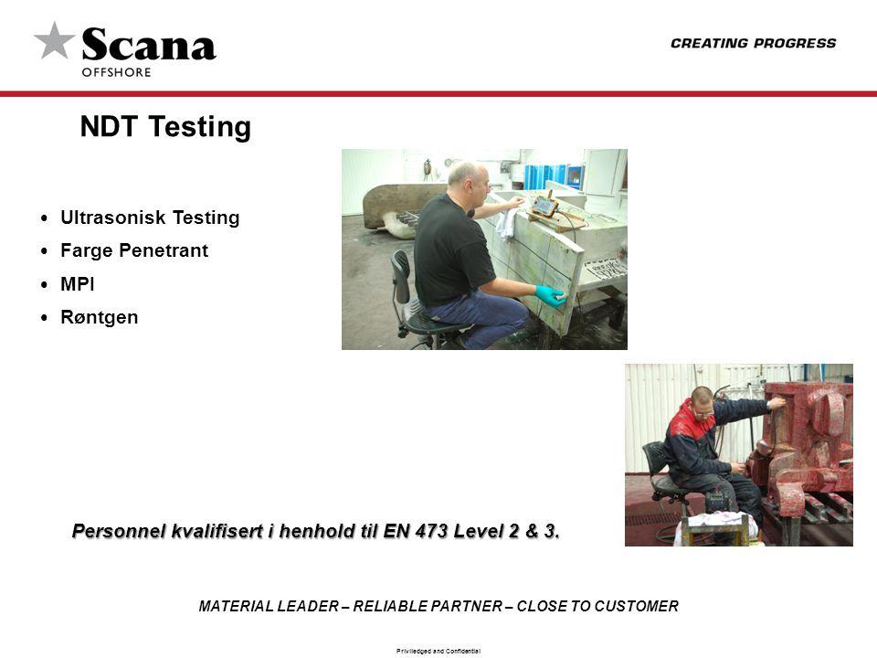 NDT Testing Ultrasonisk Testing Farge Penetrant MPI Røntgen