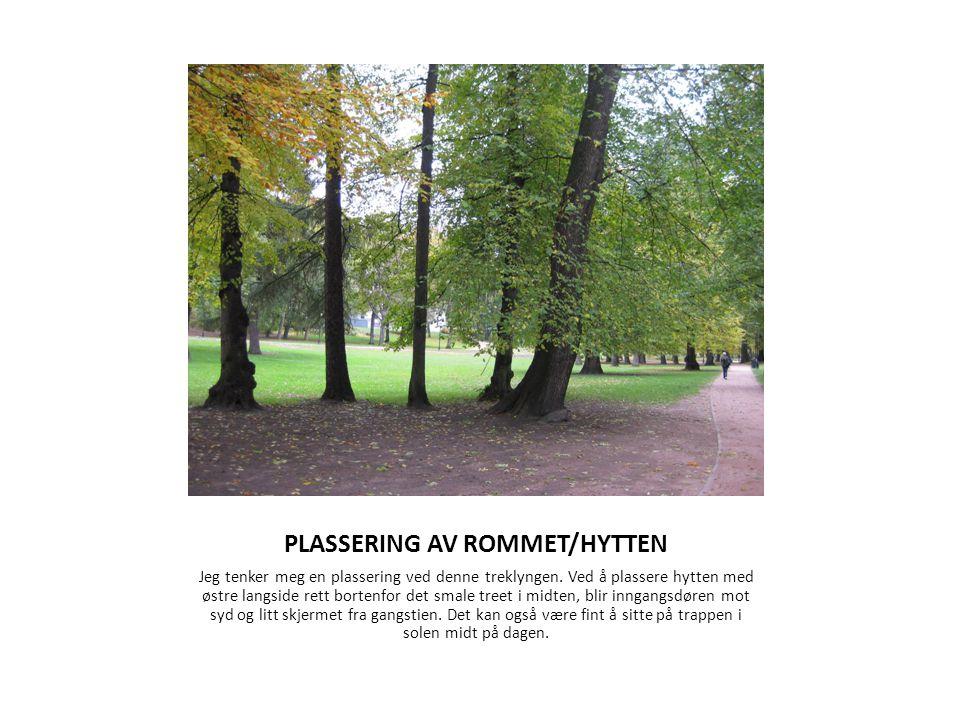 PLASSERING AV ROMMET/HYTTEN