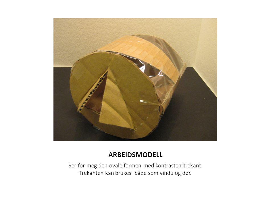 ARBEIDSMODELL Ser for meg den ovale formen med kontrasten trekant.