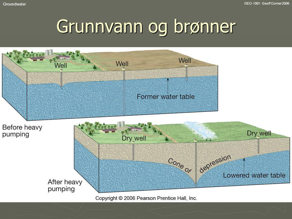 Groundwater GEO-1001 Geoff Corner 2006 Grunnvann og brønner