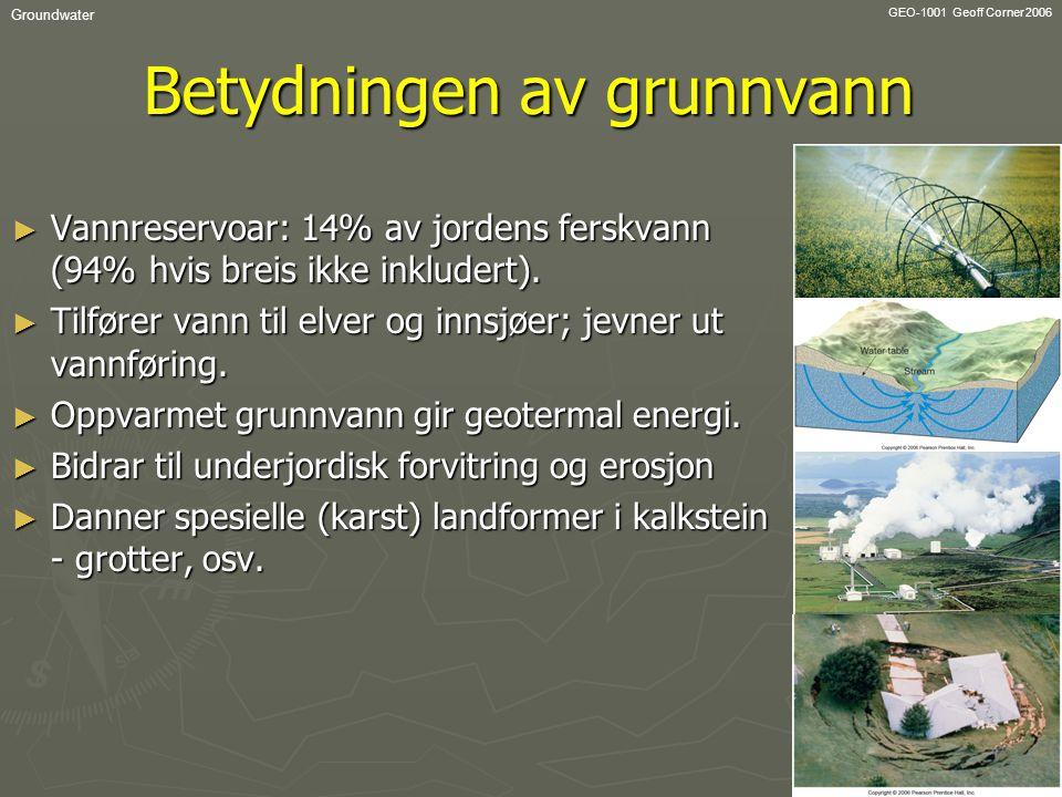 Betydningen av grunnvann