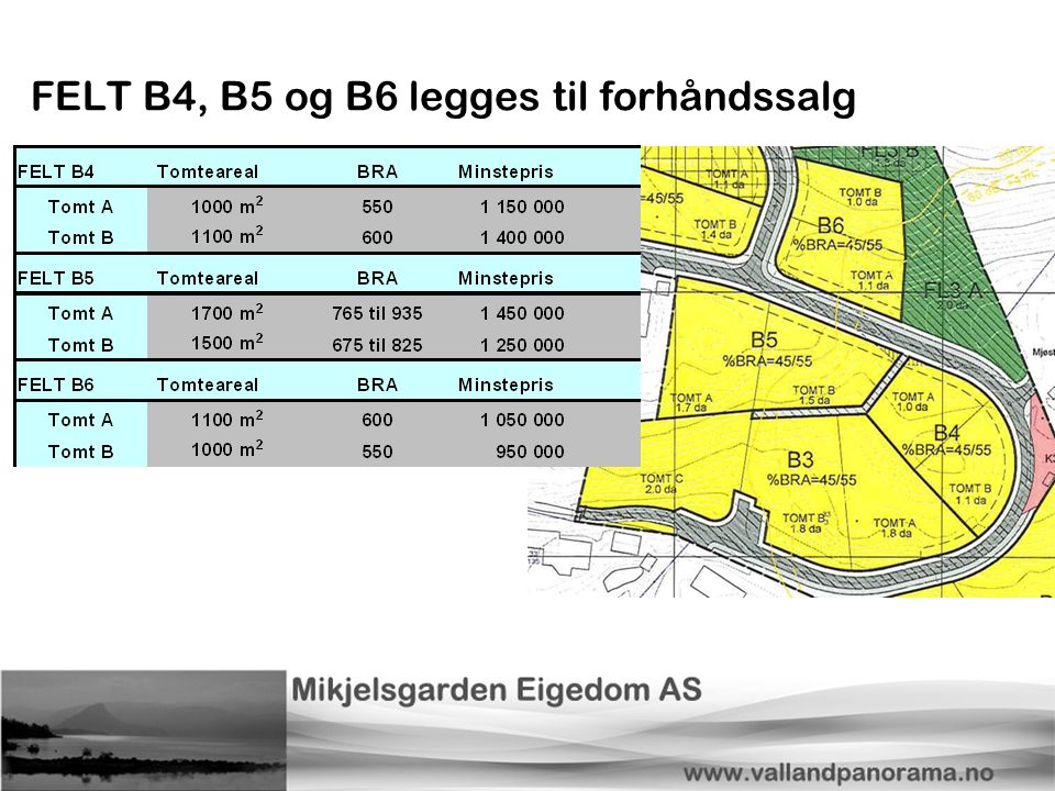 FELT B4, B5 og B6 legges til forhåndssalg