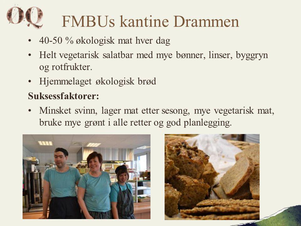 FMBUs kantine Drammen 40-50 % økologisk mat hver dag