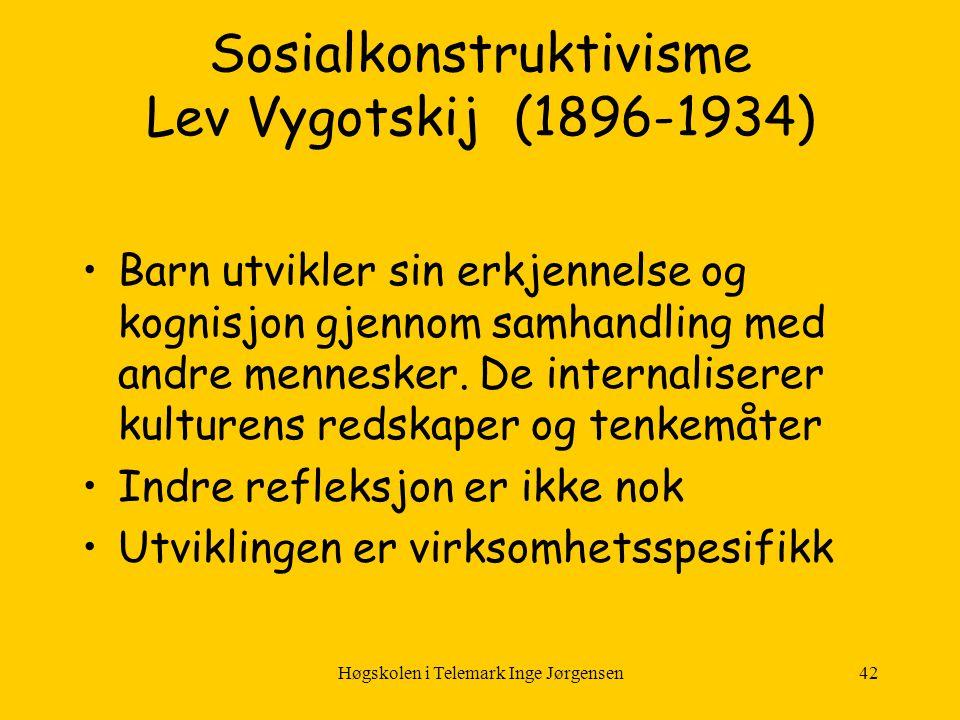 Sosialkonstruktivisme Lev Vygotskij (1896-1934)