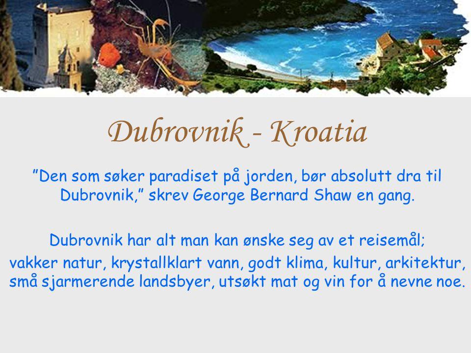 Dubrovnik har alt man kan ønske seg av et reisemål;