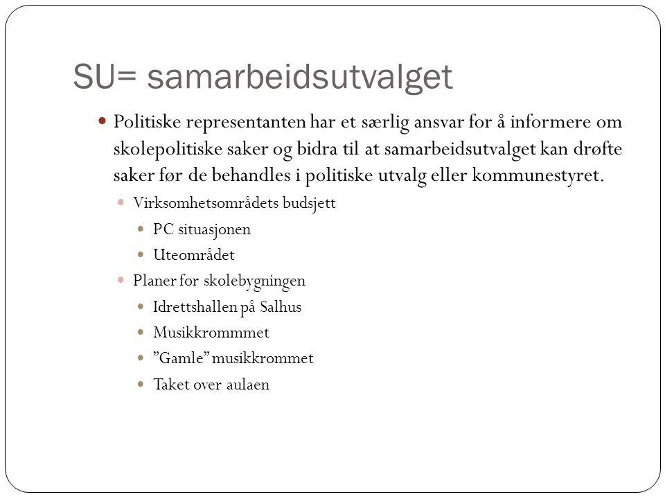 SU= samarbeidsutvalget