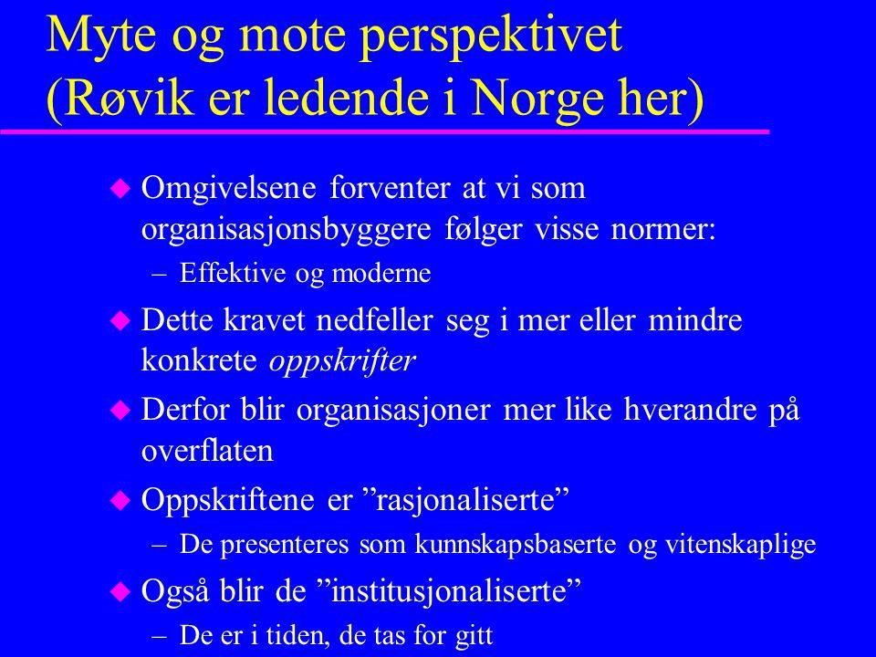 Myte og mote perspektivet (Røvik er ledende i Norge her)