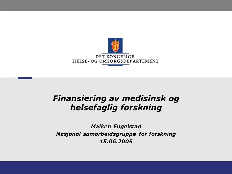 Finansiering av medisinsk og helsefaglig forskning