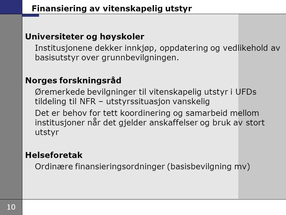 Norges forskningsråd tildelinger