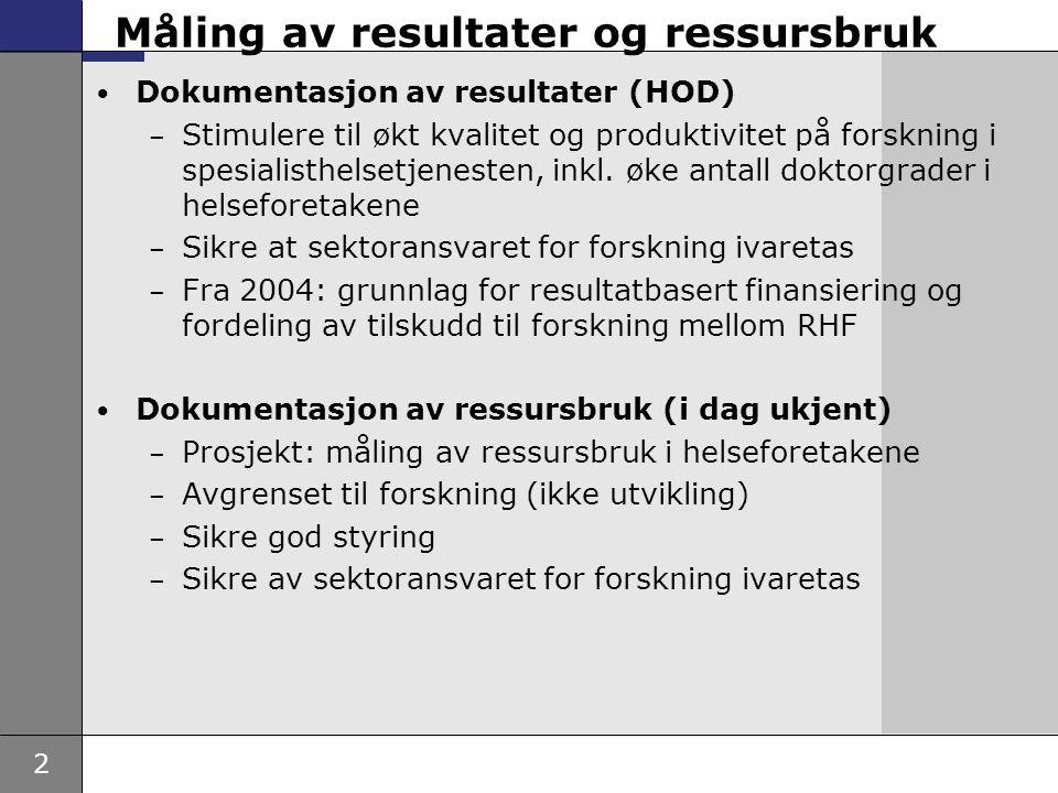 Måling av resultater og ressursbruk