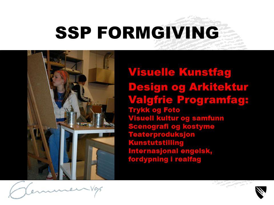 SSP FORMGIVING Visuelle Kunstfag Design og Arkitektur