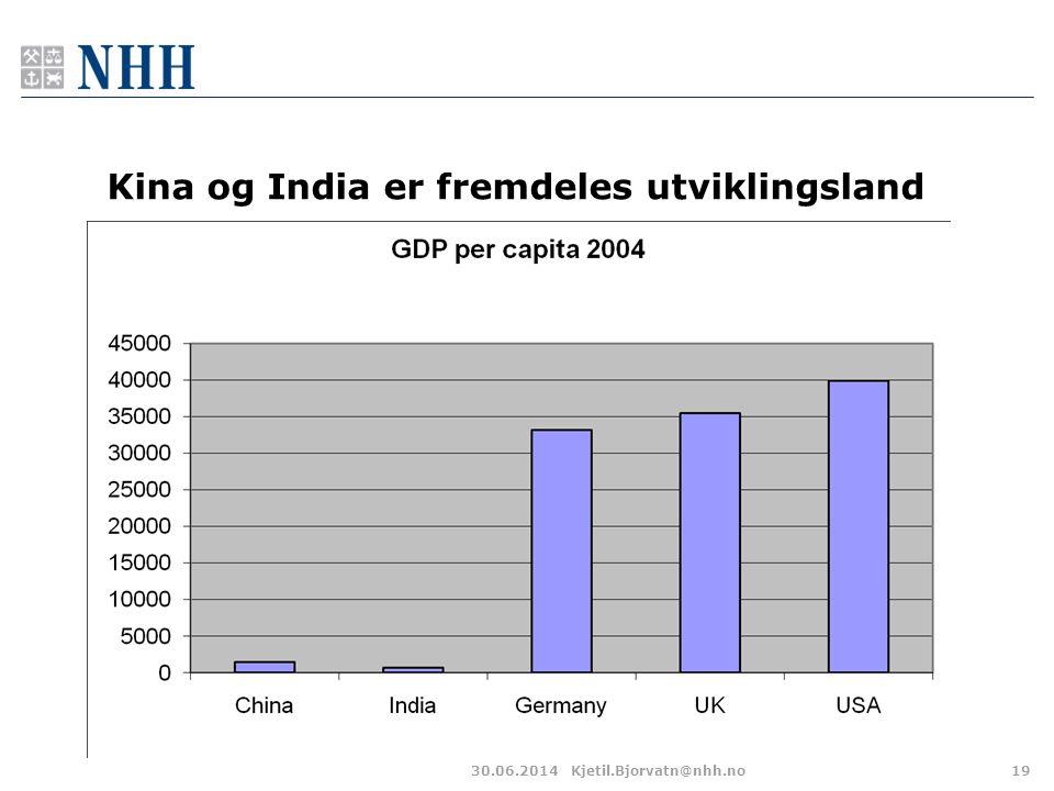 Kina og India er fremdeles utviklingsland