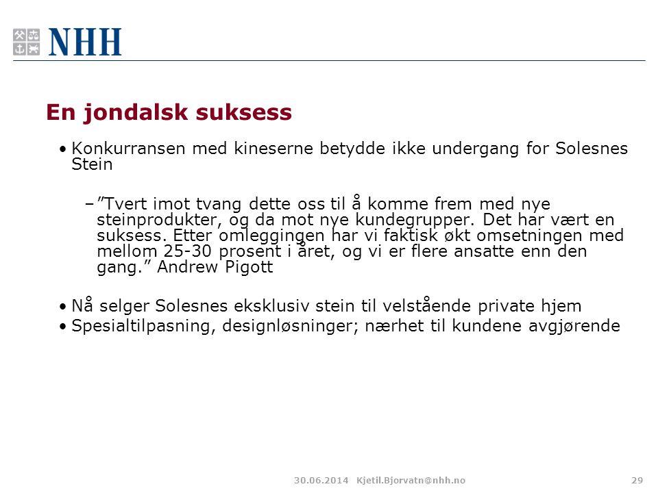 En jondalsk suksess Konkurransen med kineserne betydde ikke undergang for Solesnes Stein.