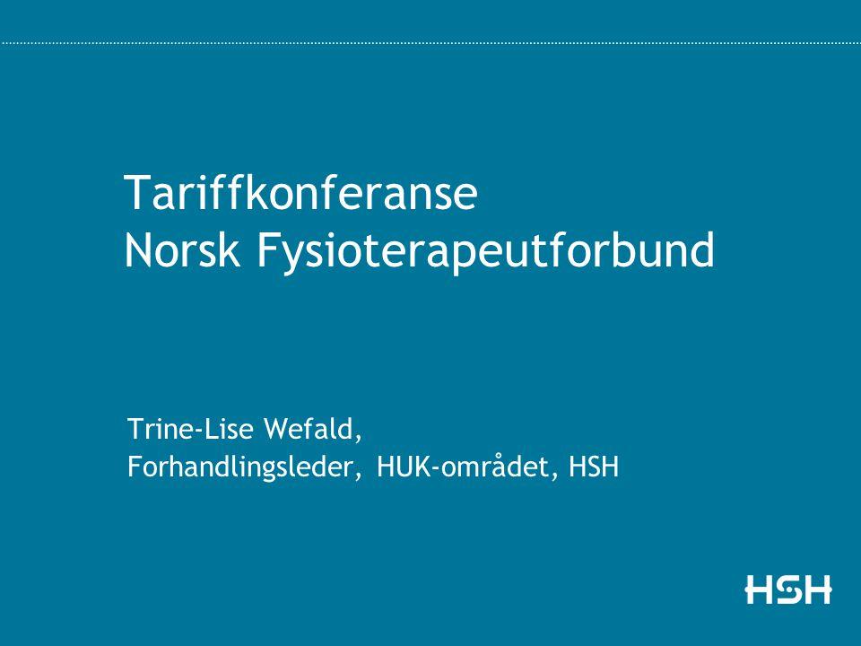 Tariffkonferanse Norsk Fysioterapeutforbund