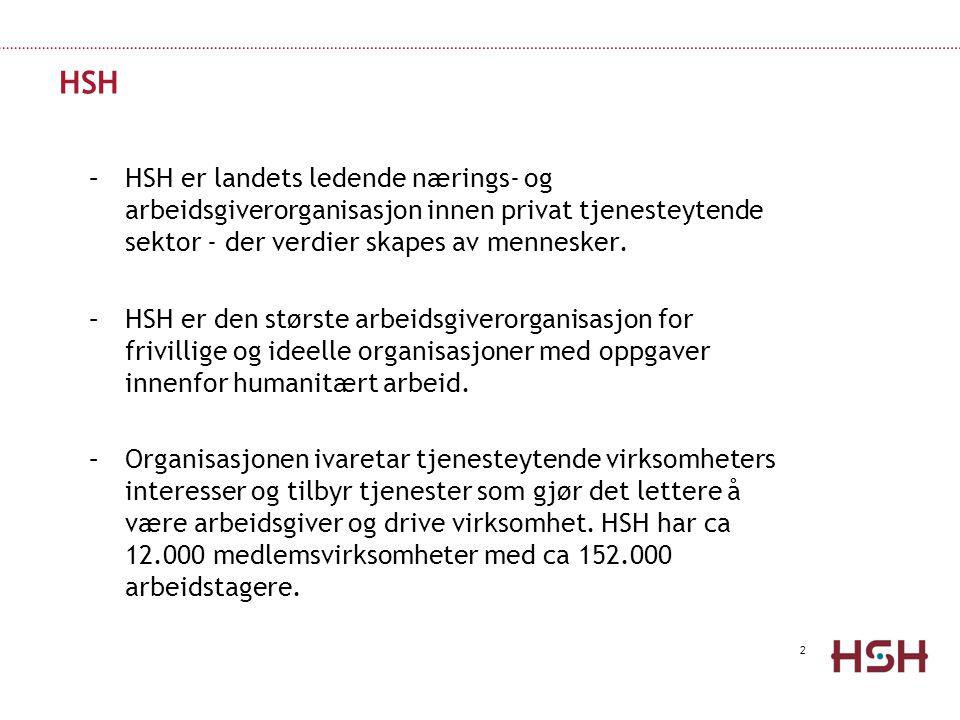 HSH HSH er landets ledende nærings- og arbeidsgiverorganisasjon innen privat tjenesteytende sektor - der verdier skapes av mennesker.