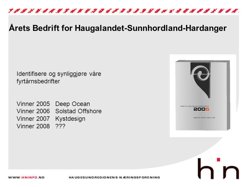 Årets Bedrift for Haugalandet-Sunnhordland-Hardanger