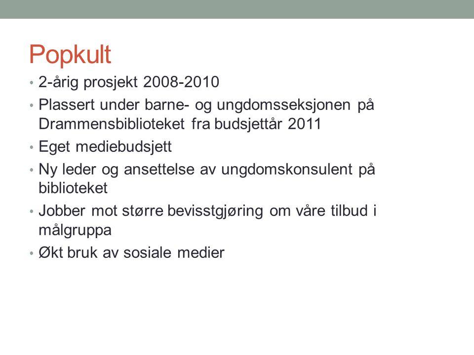 Popkult 2-årig prosjekt 2008-2010