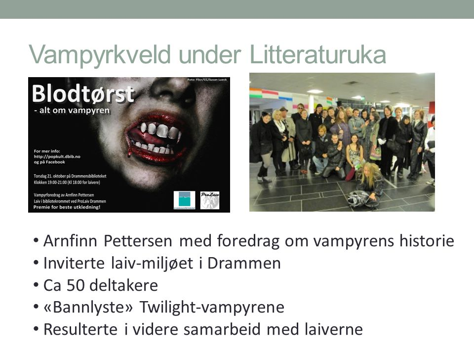Vampyrkveld under Litteraturuka