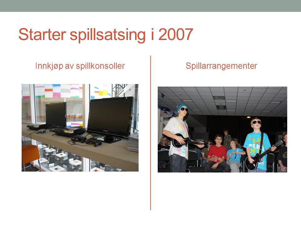Starter spillsatsing i 2007
